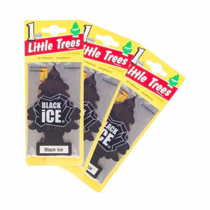 Little Tree Hanging Aroma Black Ice 3 Pcs