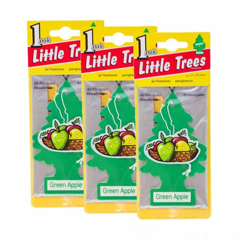 Little Tree Hanging Aroma Green Apple 3 Pcs