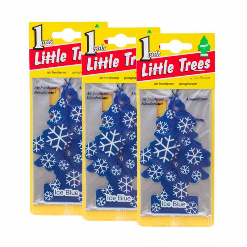 Little Tree Hanging Aroma Ice Blue 3 Pcs