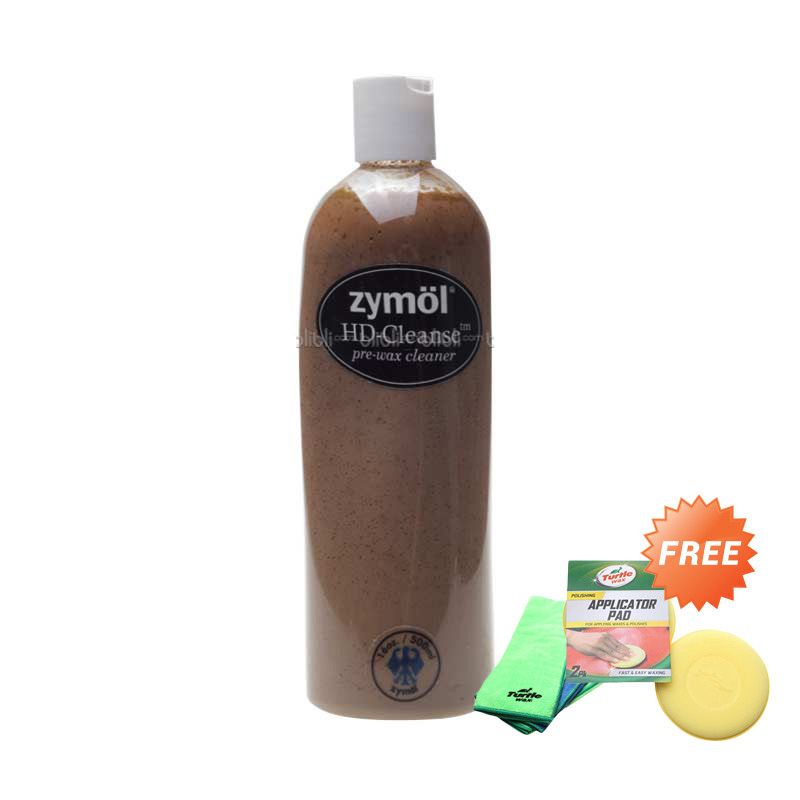 PROMO Zymol HD Cleanse 16 Oz [Buy 1 Get 2 FREE Turtlewax Microfiber + Applicator Pad]