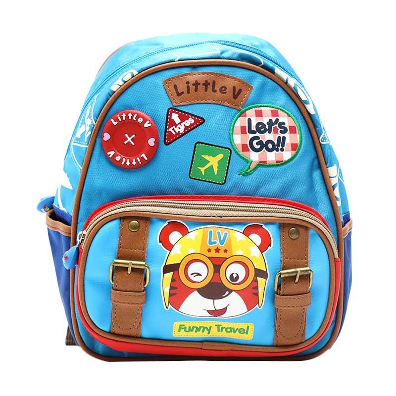 harga Little V 43589 Kids Backpack Tas Sekolah Anak - Blue Blibli.com