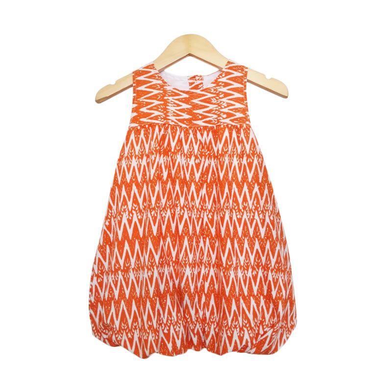Littlebig Balon Orange Dress Anak