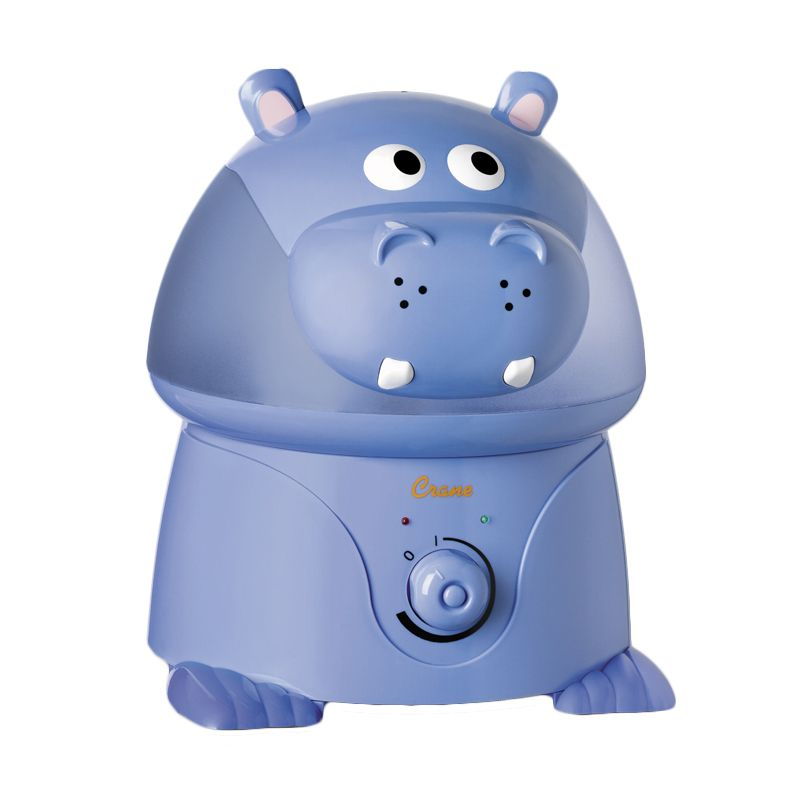 Crane USA Violet The Hippo Cool Mist Humidifier