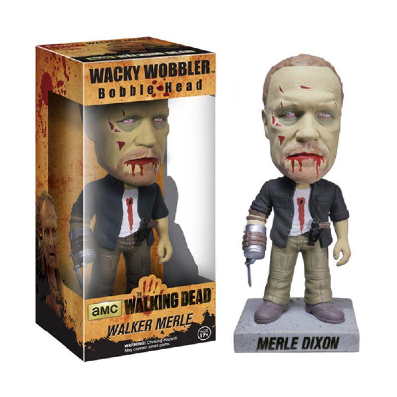 Funko Zombie Merle Dixon Wacky Wobbler 4161 Mainan Anak