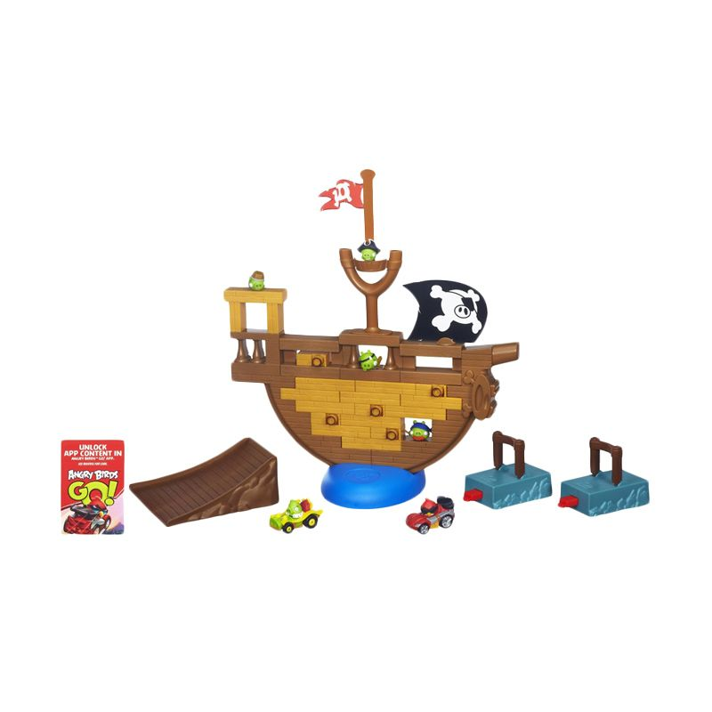 Hasbro Angry Birds Go Pirate Pig Attack Game A6439 Mainan Anak