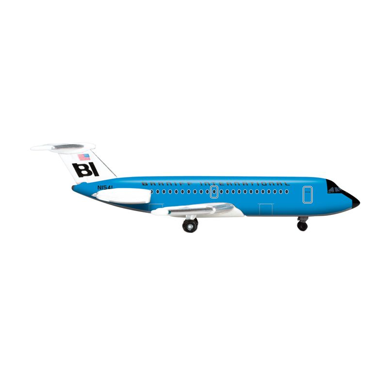 Herpa Braniff International BAC 1-11-200 Jelly Bean Blue Diecast [1:500]