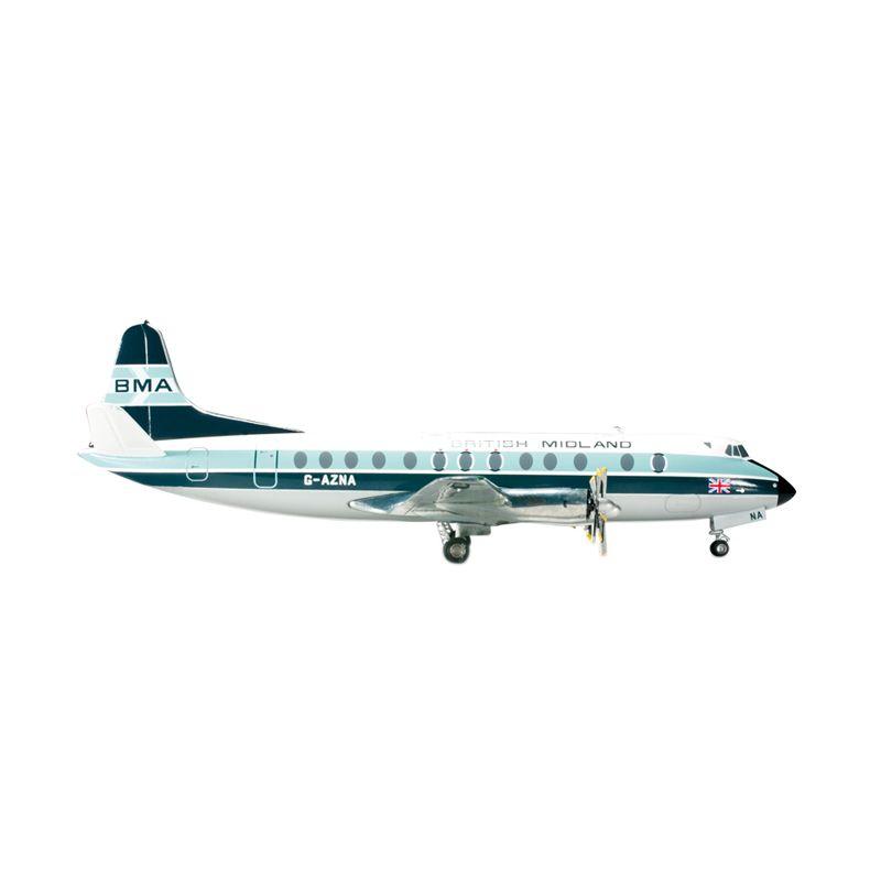Herpa British Midland Airways Vickers Viscount 800 Diecast [1/200]