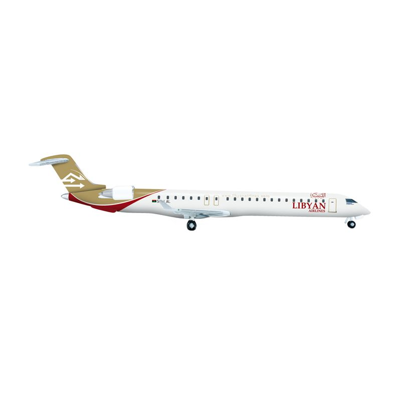 Herpa Libyan Airlines Bombardier CRJ-900 - 5A-LAL Diecast [1:500]