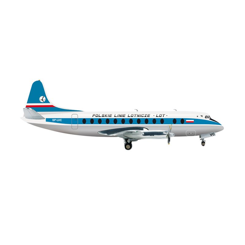 Herpa Lot Polish Airlines Vickers Viscount 800 Diecast [1:200]
