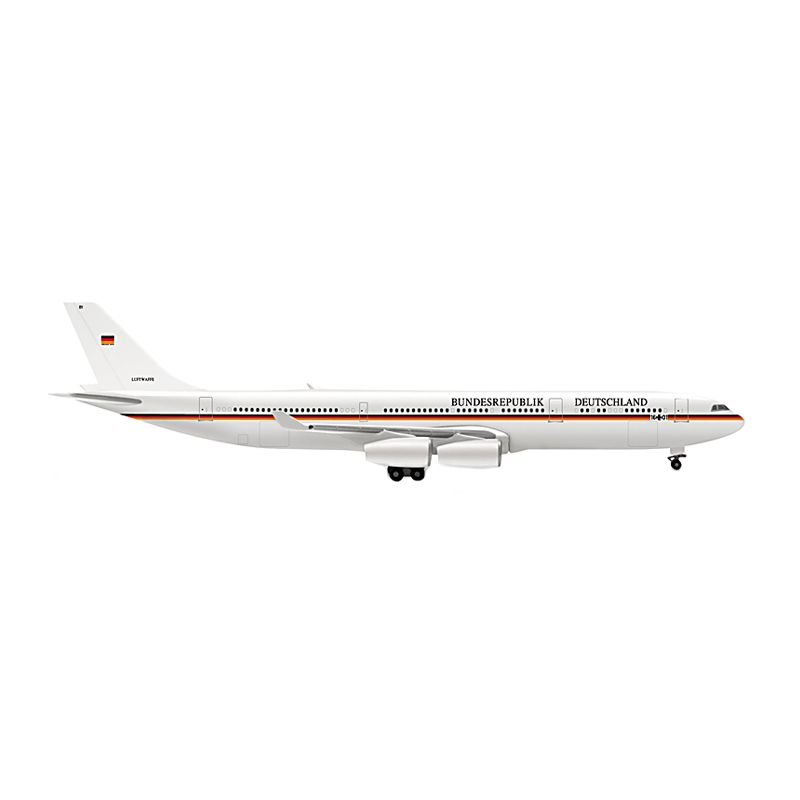 Herpa Luftwaffe Airbus A340-300 German VIP and Military Transports Diecast [1:500]