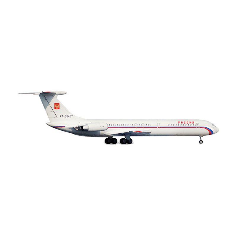 Herpa Rossiya - Russian State Transport Company Ilyushin IL-62M Diecast [1:500]