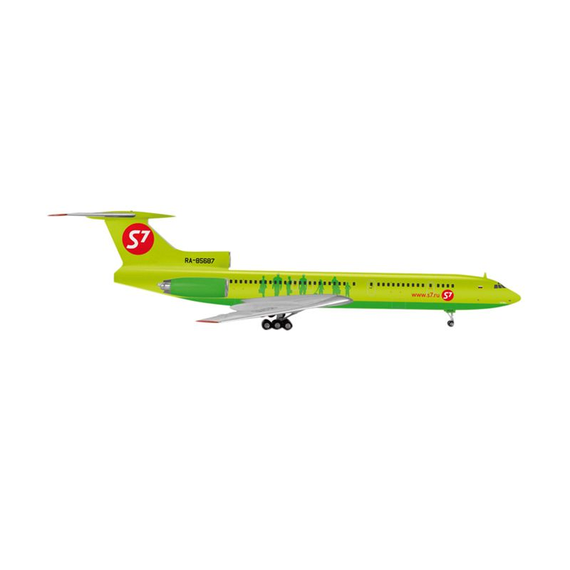 Herpa S7 Airlines Tupolev Tu-154M Diecast [1:200]