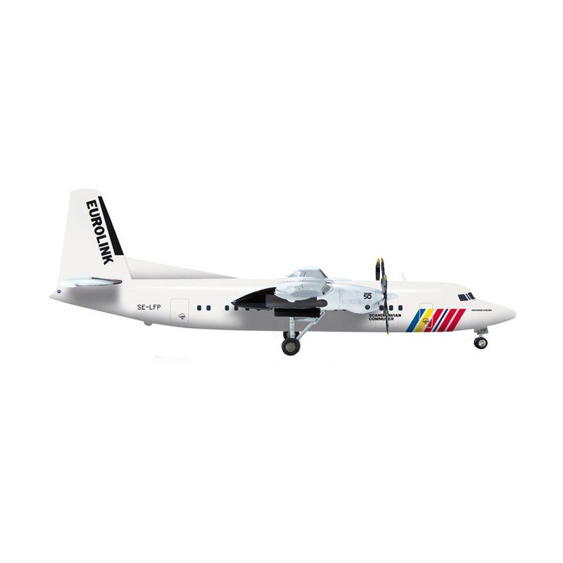Herpa Scandinavian Commuter - Eurolink Fokker 50 Diecast [1/200]
