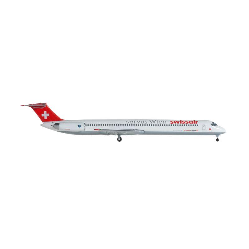 Herpa Swiss Air Mcdonnell Douglas Md-81 Servis Wien Diecast [1:500]