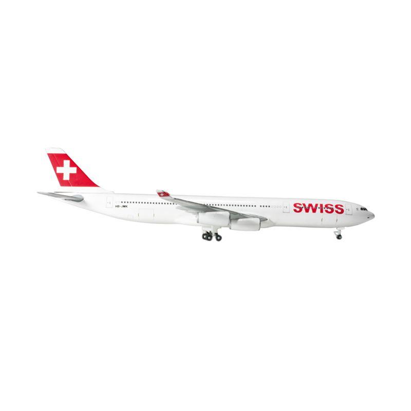 Herpa Swiss International Air Lines Airbus A340-300 Diecast [1:500]