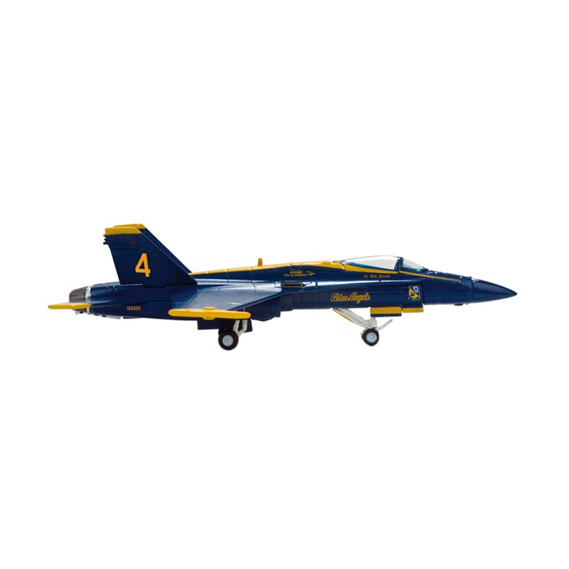 Herpa Us Navy Mcdonnell Douglas F/A-18 Hornet Blue Angels - No 4 - Slot Diecast [1:200]