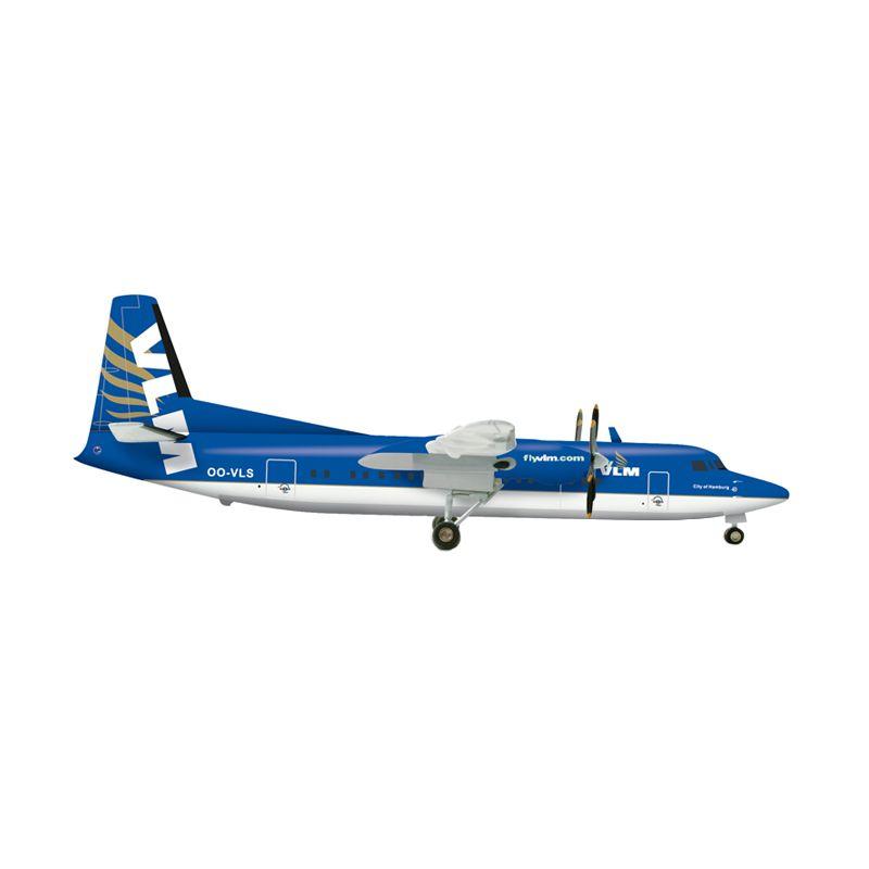 Herpa Vlm Airlines Fokker 50 - Oo-Vls Diecast [1/200]