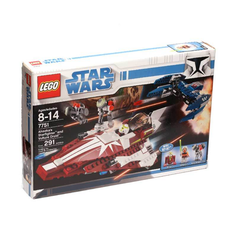 Lego Ahsoka's Starfighter and Droids 7751 Mainan Anak