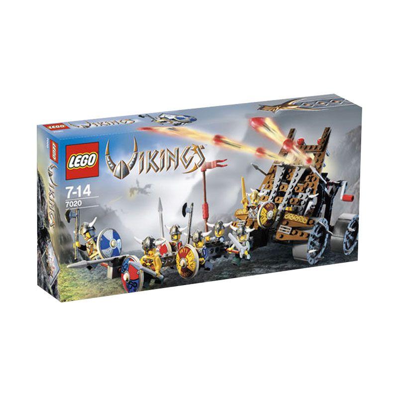 LEGO Army of Vikings with Heavy Artillery Wagon 7020 Mainan Anak