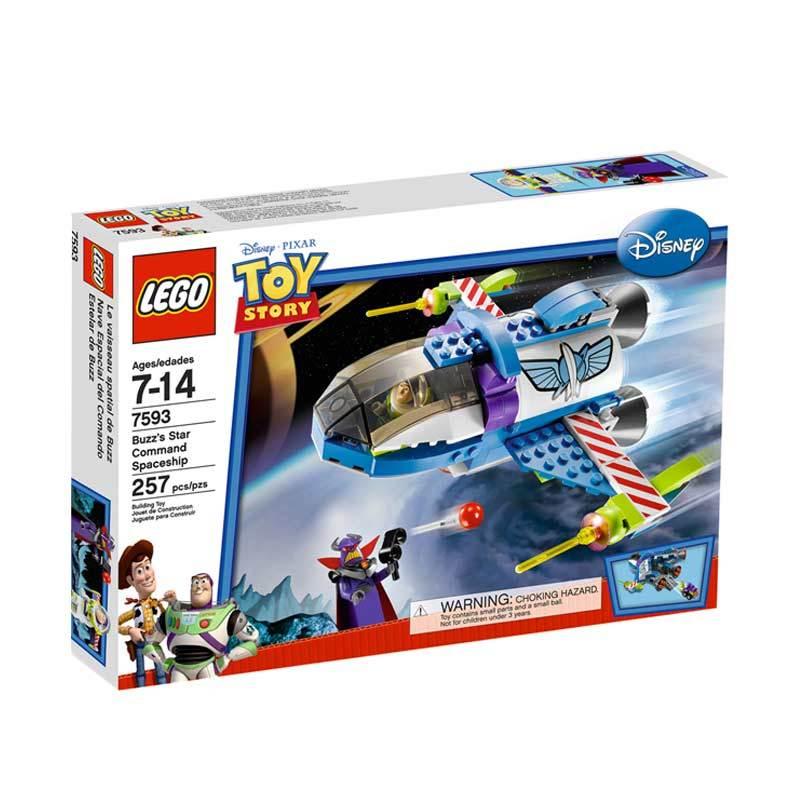 Lego Buzz's Star Command Spaceship 7593 Mainan Anak