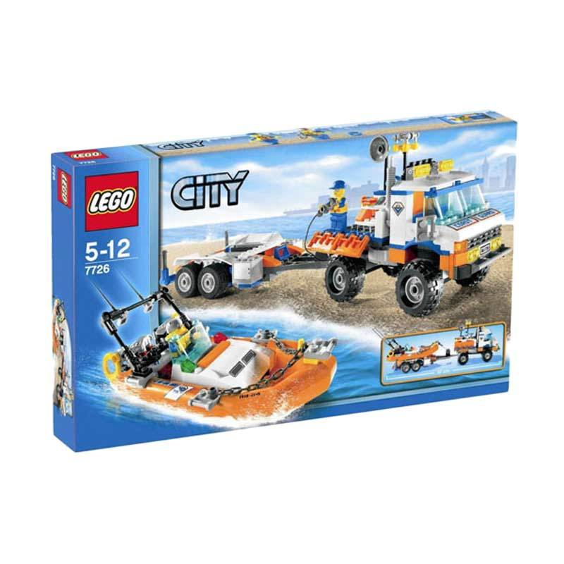 Lego Coast Guard Truck with Speed Boat 7726 Mainan Anak