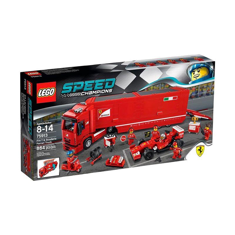 Lego F14T & Scuderia Ferrari Truck 75913 Mainan Anak