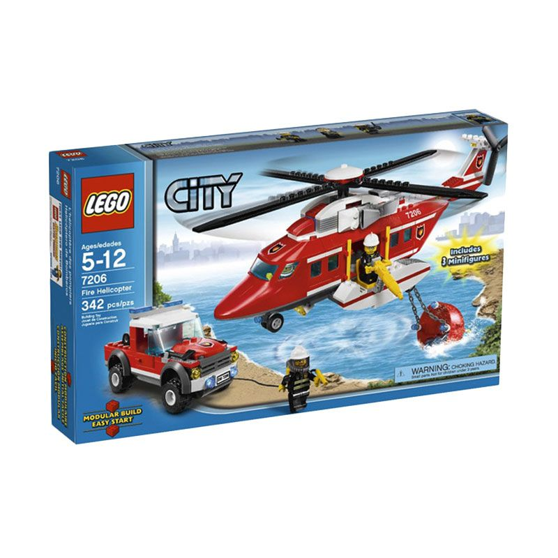 LEGO Fire Helicopter 7206 Mainan Anak