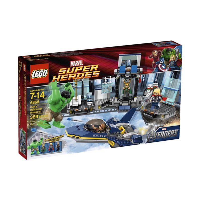 LEGO Hulk's Helicarrier Breakout 6868 Mainan Anak