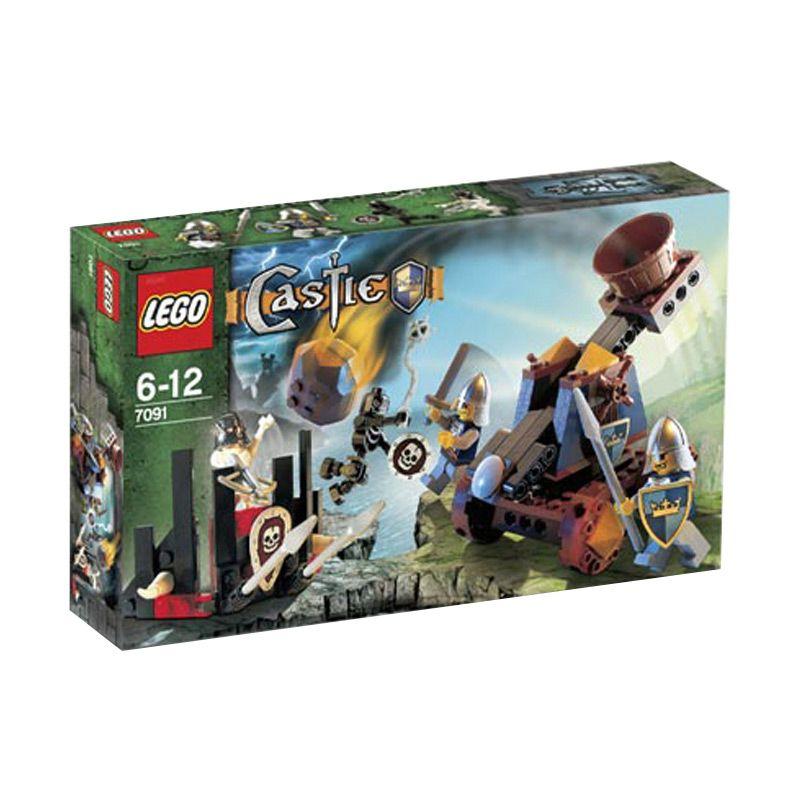 LEGO Knight's Catapult Defense 7091 Mainan Anak