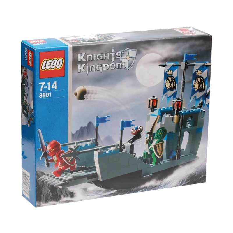 Lego Knight''S Attack Barge 8801 Mainan Anak