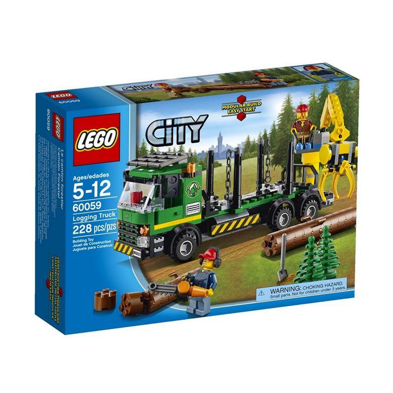 Lego Logging Truck 60059 Mainan Anak