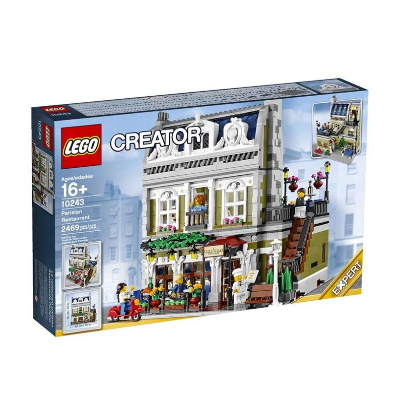Lego Parisian Restaurant 10243 Mainan Blok dan Puzzle