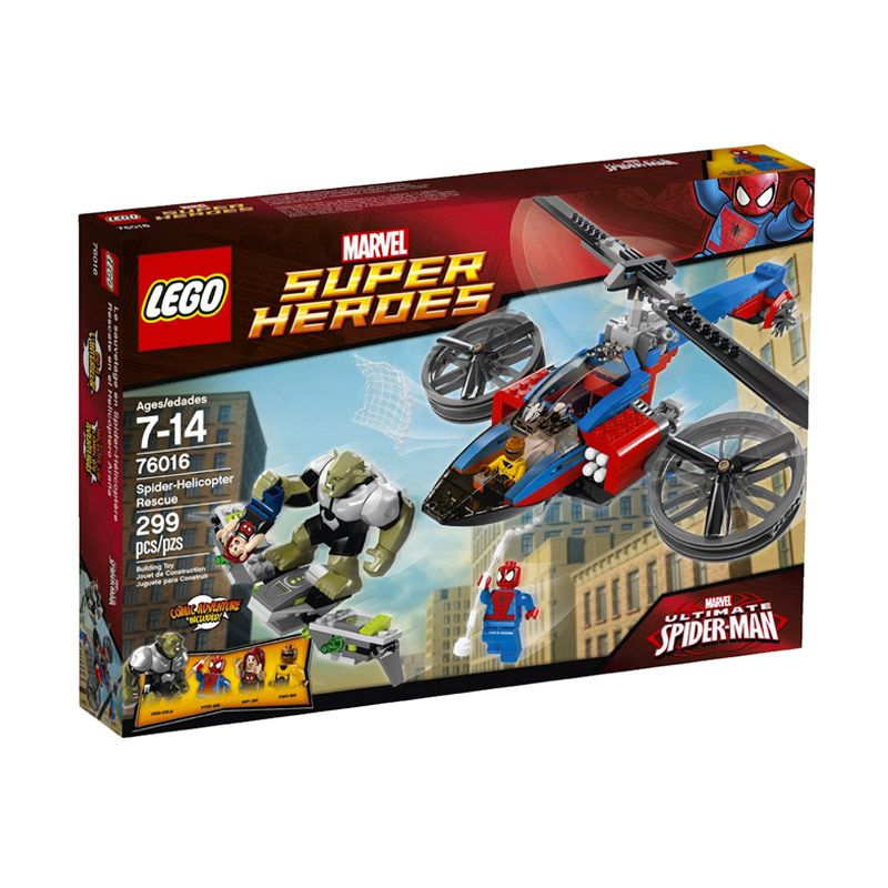 LEGO Spider-Helicopter Rescue 76016 Mainan Anak