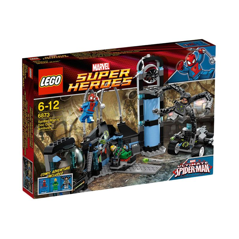 LEGO SpiderMan's Doc Ock Ambush 6873 Mainan Anak