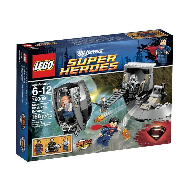 LEGO Superman Black Zero Escape 76009 Mainan Anak