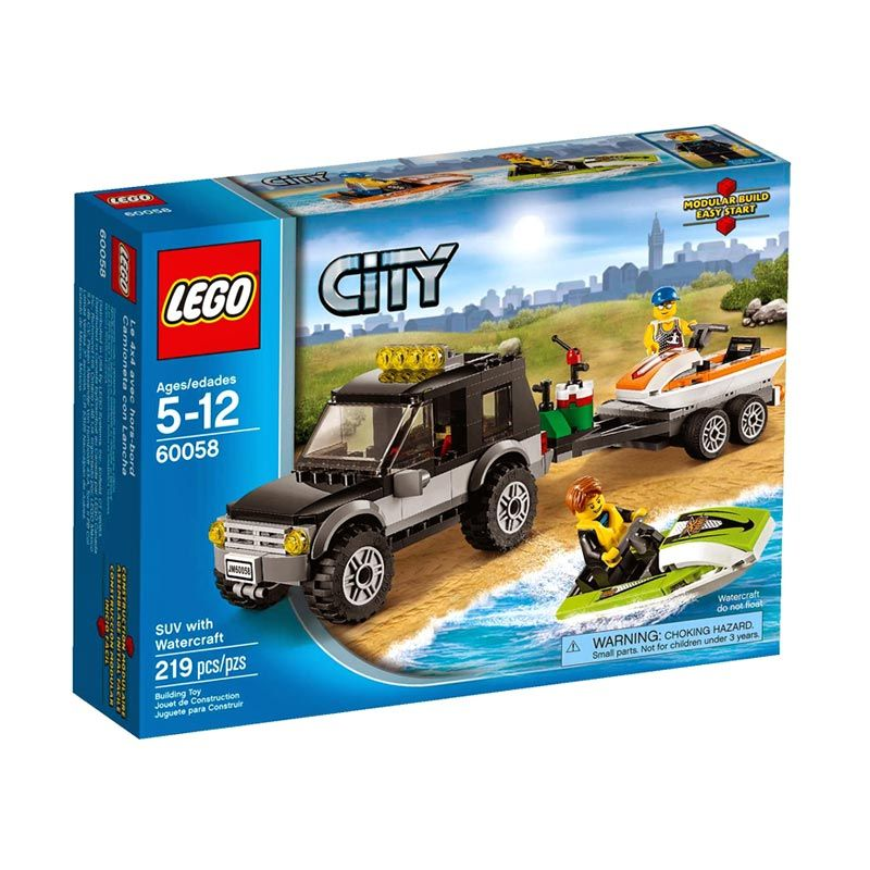 LEGO SUV With Watercraft L60058 Mainan Anak