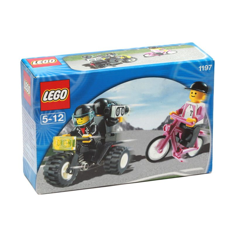 LEGO Telekom Race Cyclist and Television Motorbike 1197 Mainan Anak