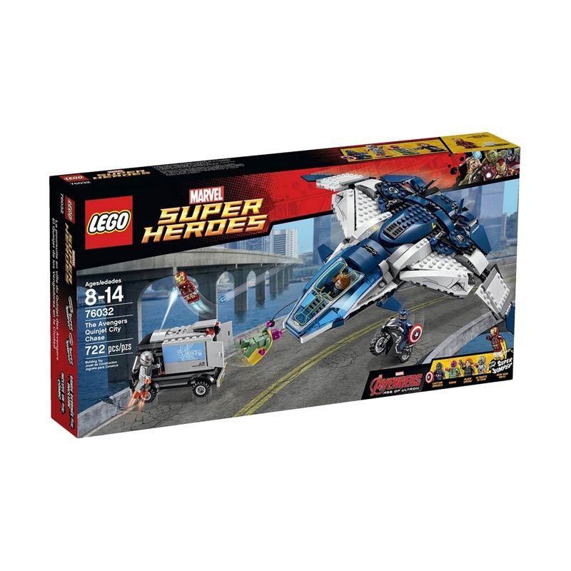Lego The Avengers Quinjet City Chase 76032 Mainan Anak