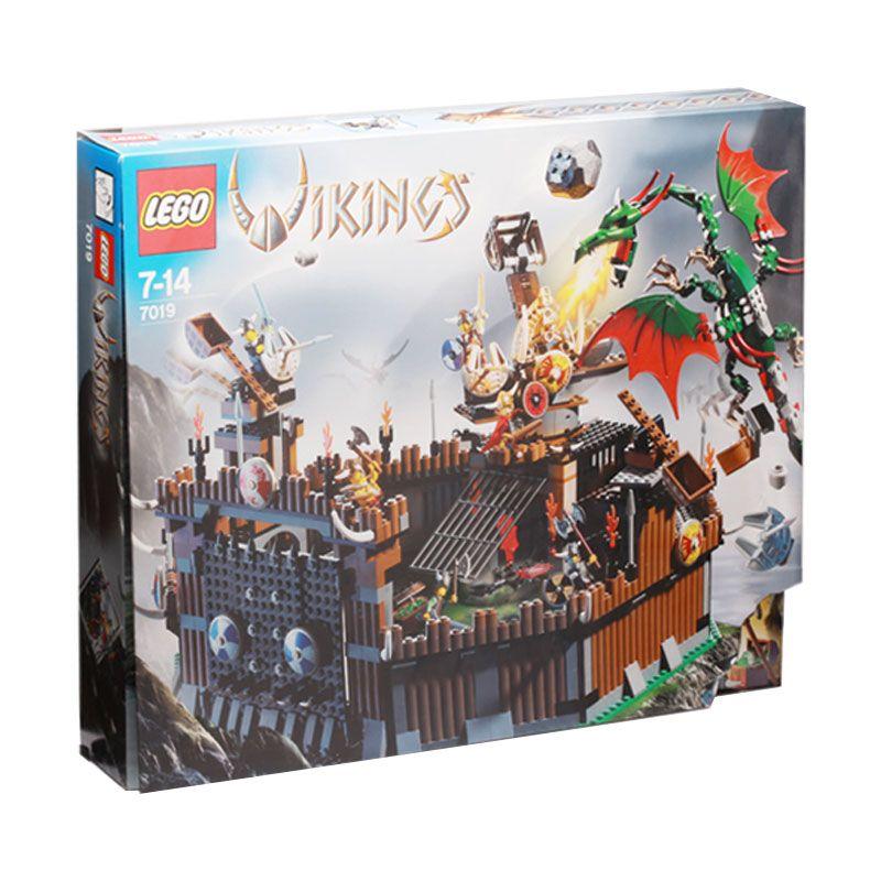 LEGO Vikings Fortress against the Fafnir Dragon 7019 Mainan Anak