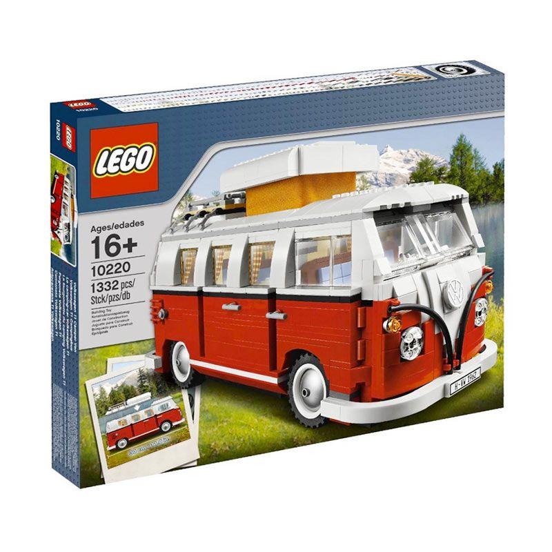 Lego Volkswagen T1 Camper Van 10220 Mainan Blok dan Puzzle