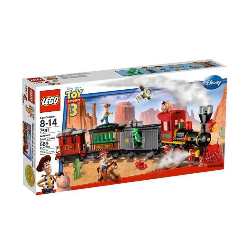 Lego Western Train Chase 7597 Mainan Blok dan Puzzle