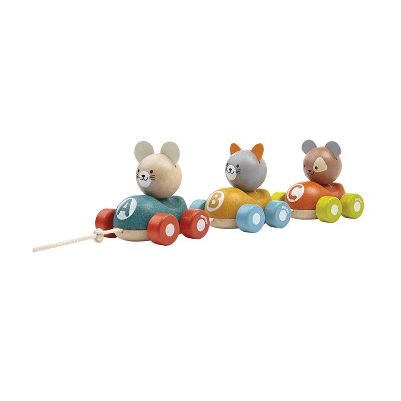 Plan Toys Animal Train PT5676 Mainan Anak