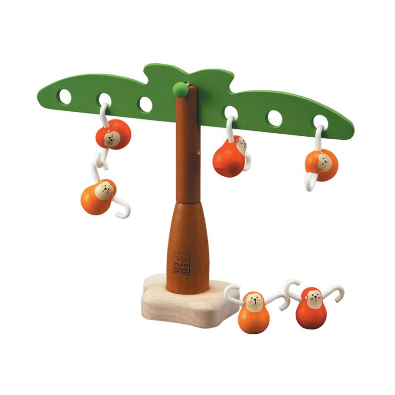 Plan Toys Balancing Monkeys PT5349 Mainan Anak
