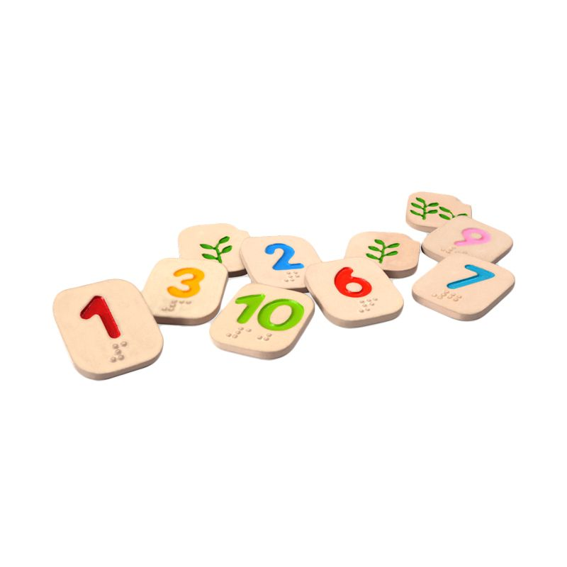 Plan Toys Braille Numbers 110 PT5654 Mainan Anak