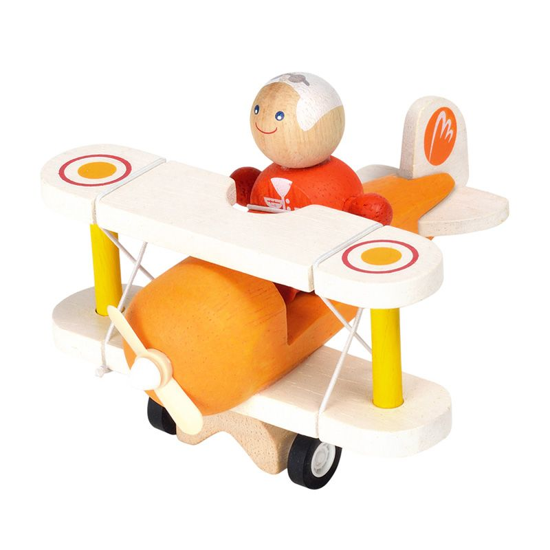 Plan Toys Classic Airplane With Pilot PT6030 Mainan Anak