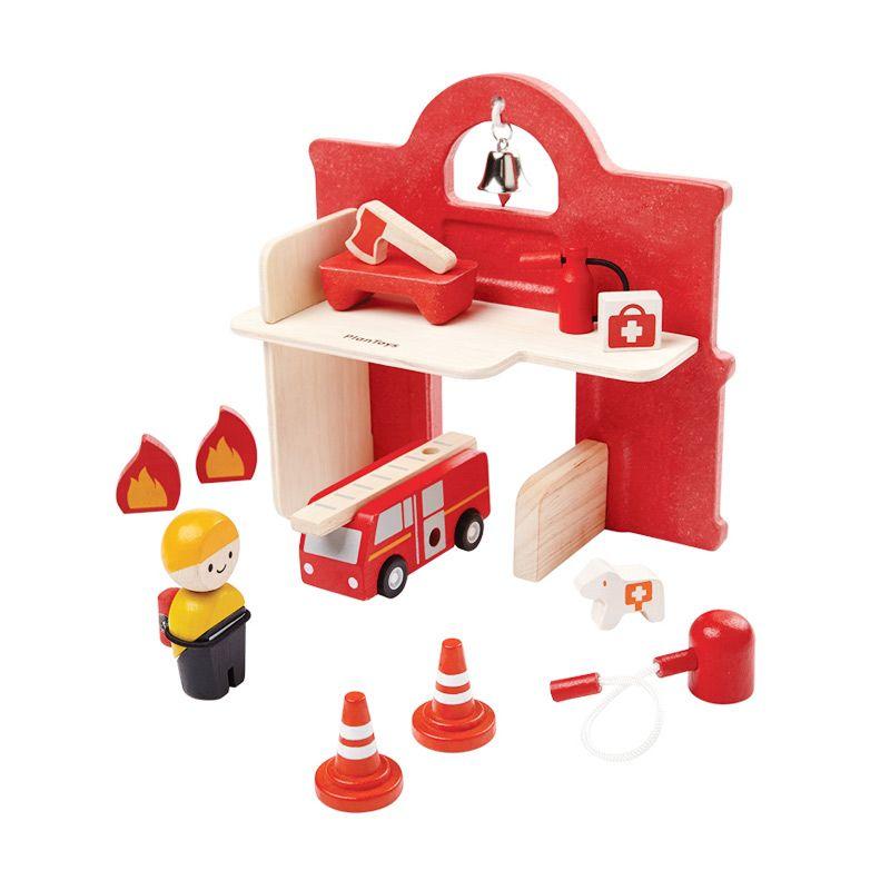 Plan Toys Fire Station PT6619 Mainan Anak