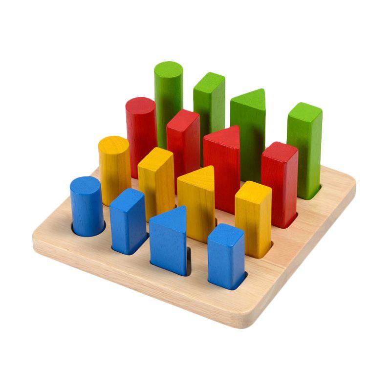 Plan Toys Geometric Peg Board PT5125 Mainan Anak