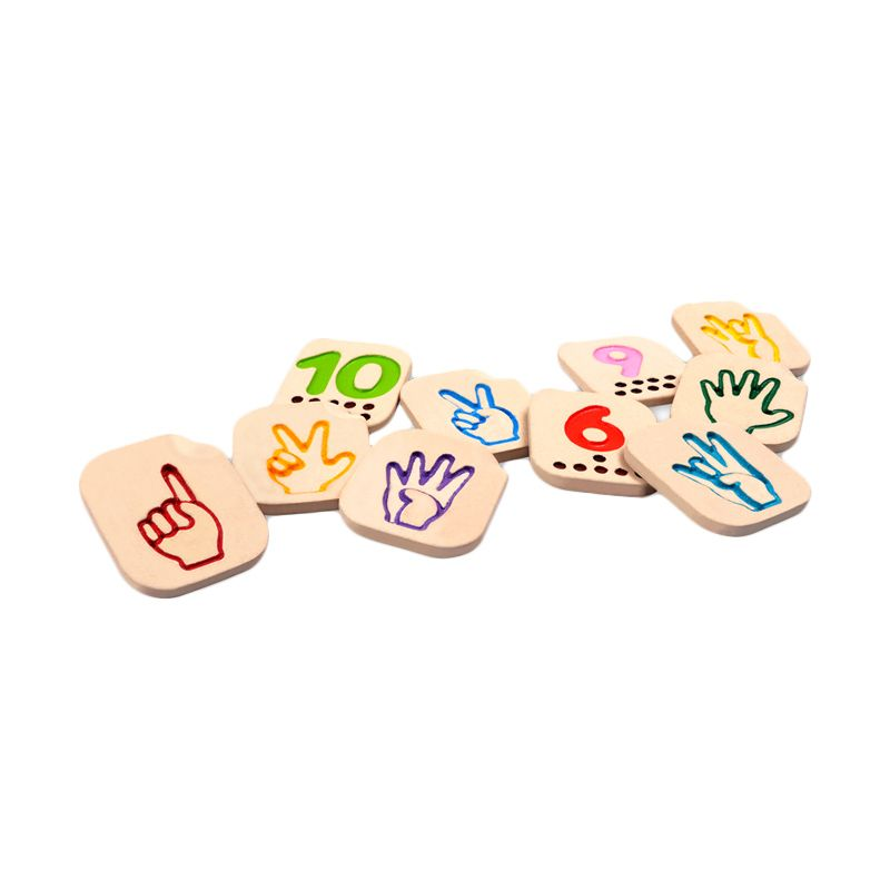 Plan Toys Hand Sign Numbers 110 PT5655 Mainan Anak