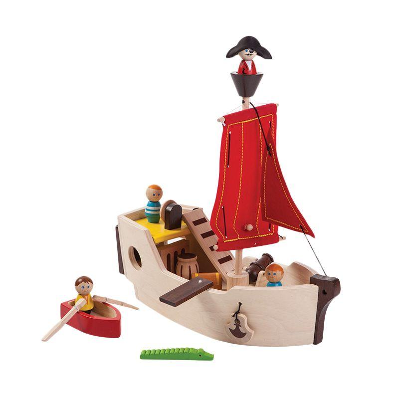 Plan Toys Pirate Ship PT6105 Mainan Anak
