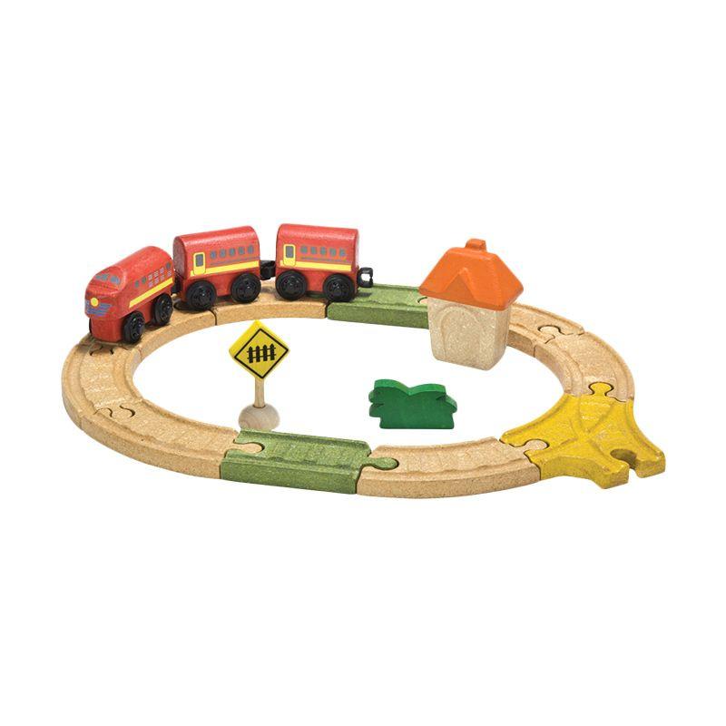 Plan Toys Railway Oval Set PT6604 Mainan Anak